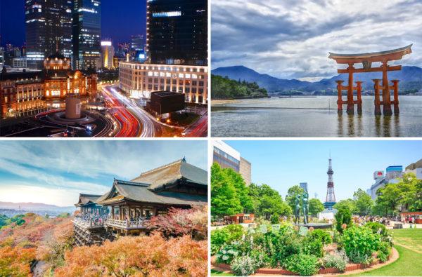 Destinations des visites guidée au Japon