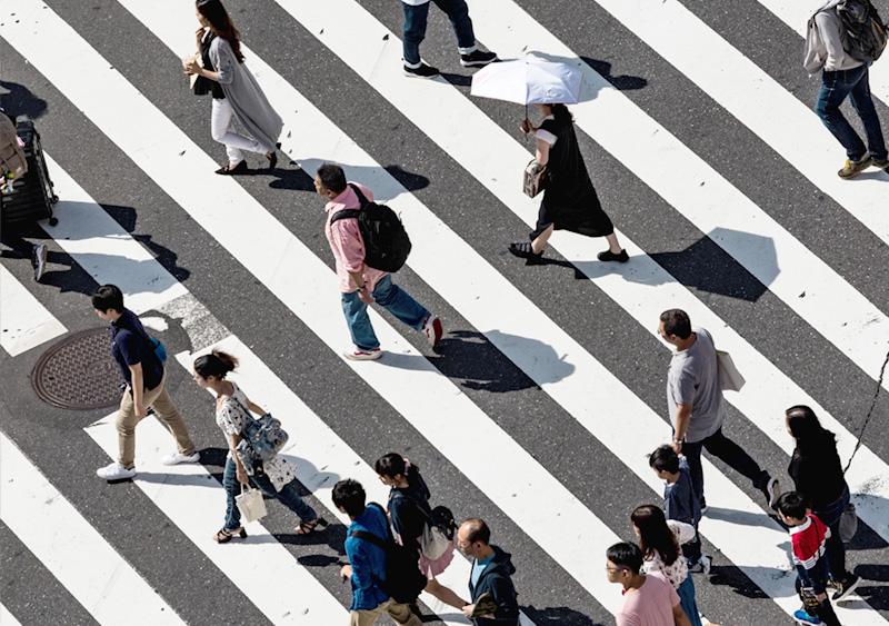 Passage piéton à Tokyo Shibuya